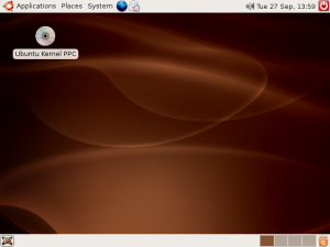 Screenshot of Ubuntu 6.06 on my PowerMac
